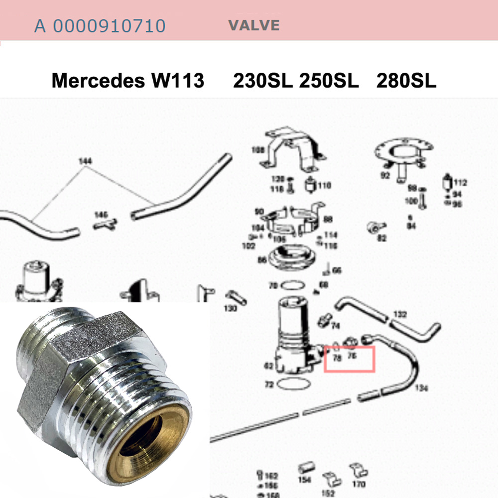 Lai Kam Wah Sdn. Bhd. Specialist in VW Aircooled Parts - 0000910710 - Valve