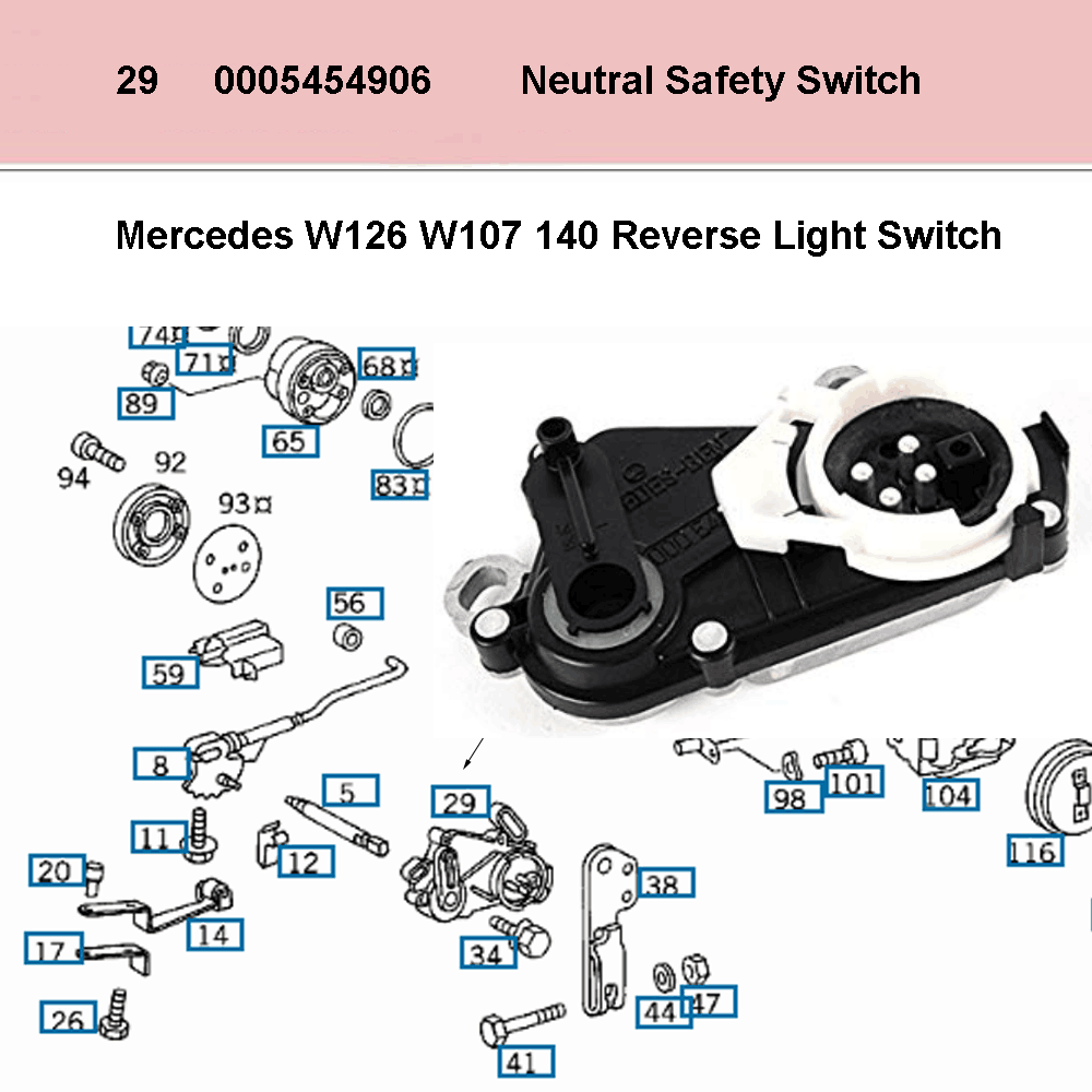 Lai Kam Wah Sdn. Bhd. Specialist in VW Aircooled Parts - 0005454906 - Neutral Safety Switch