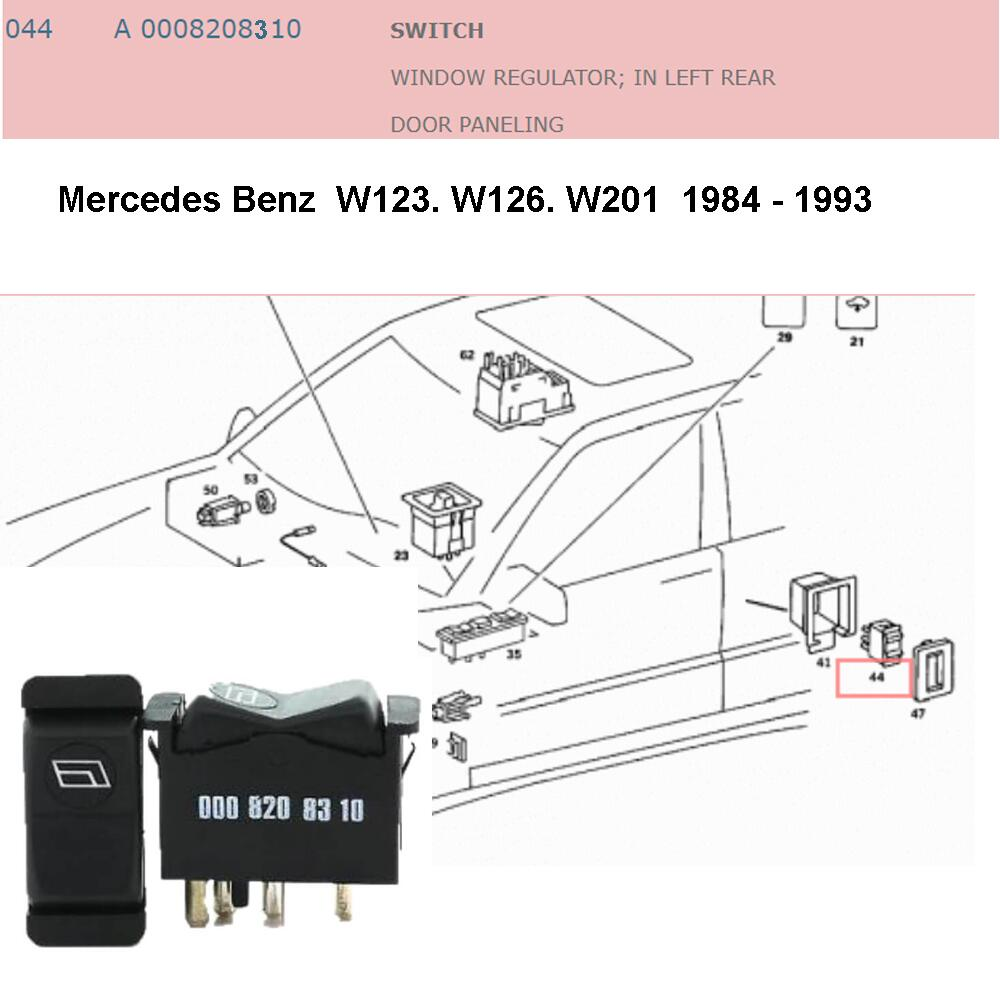Lai Kam Wah Sdn. Bhd. Specialist in VW Aircooled Parts - 0008208310 - Door Window Switch