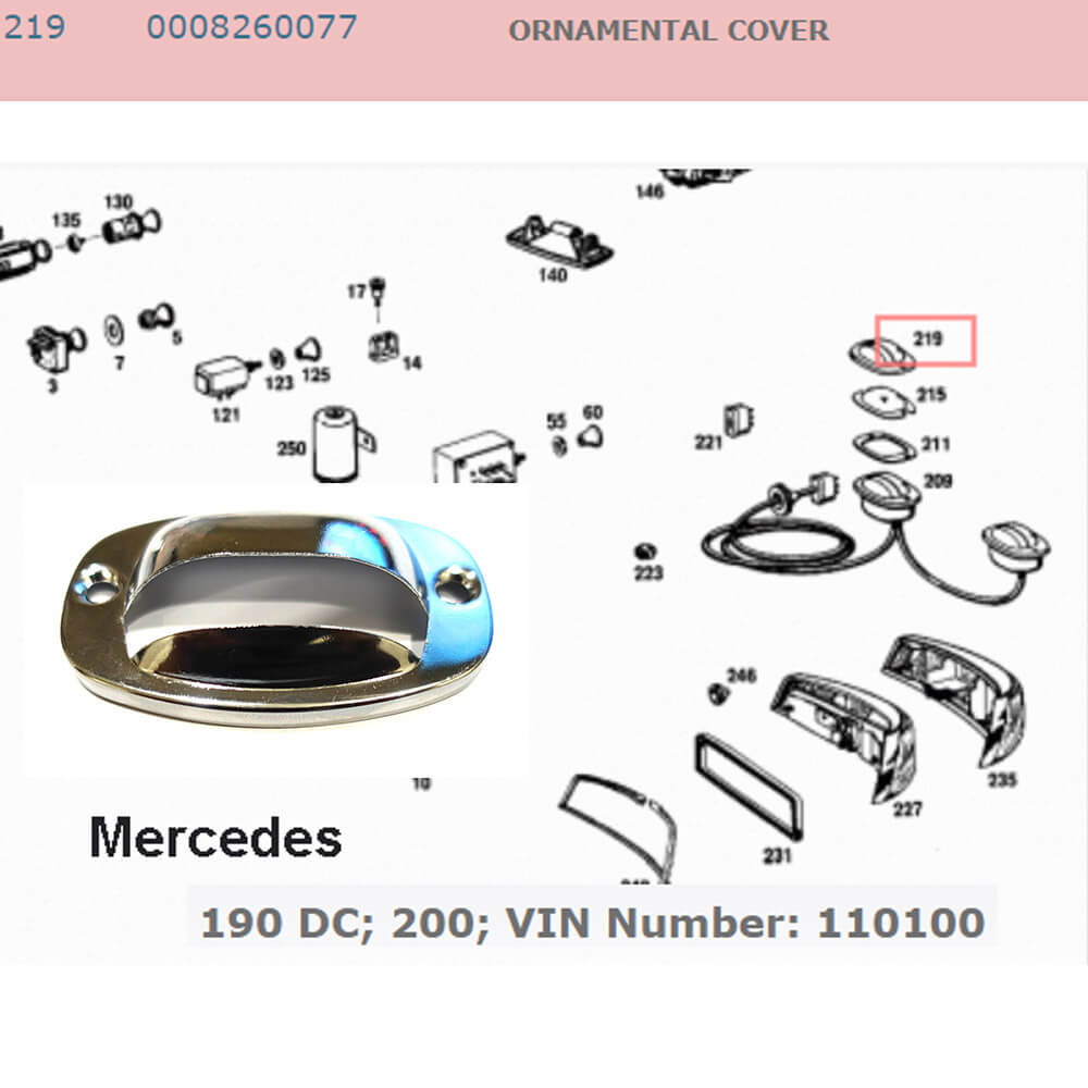Lai Kam Wah Sdn. Bhd. Specialist in VW Aircooled Parts - 0008260077 - Ornamental Cover