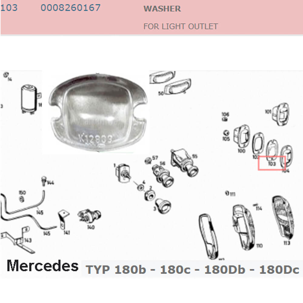 Lai Kam Wah Sdn. Bhd. Specialist in VW Aircooled Parts - 0008260167 - Licence Lamp Lens