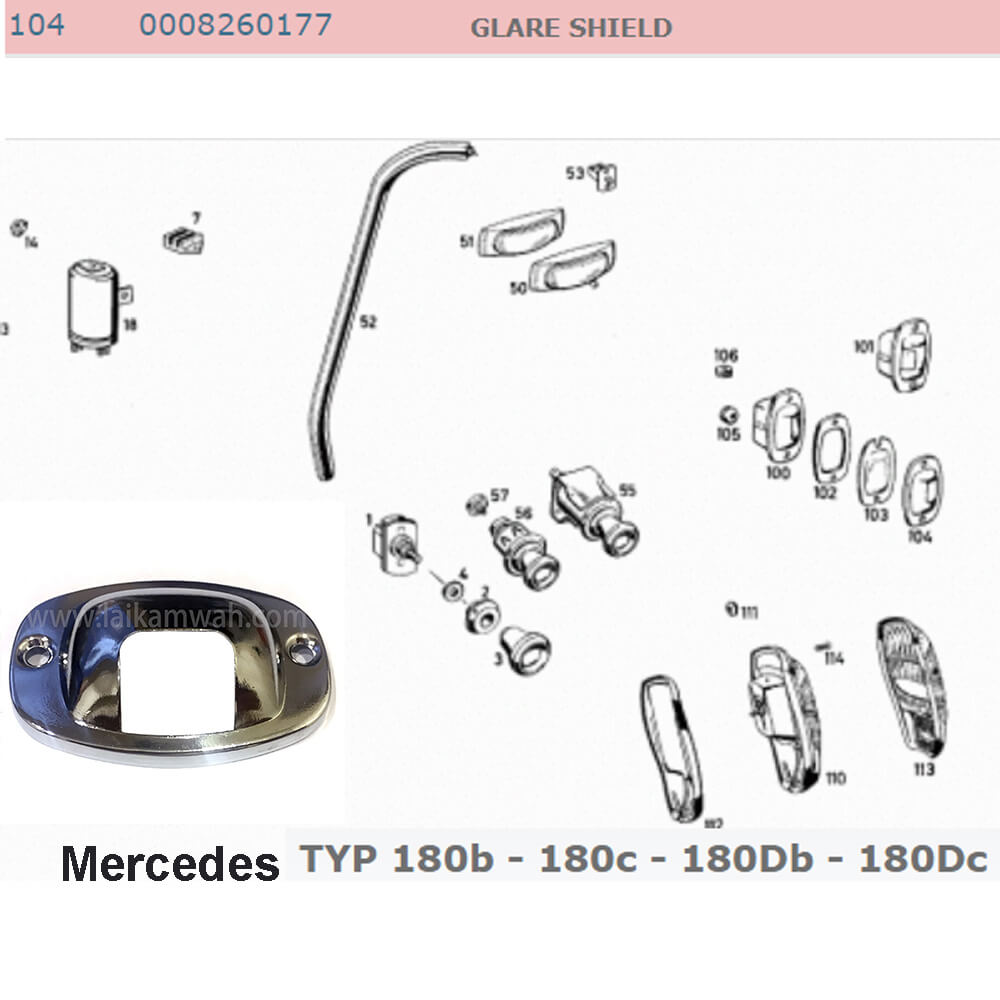 Lai Kam Wah Sdn. Bhd. Specialist in VW Aircooled Parts - 0008260177 - Glare Shield