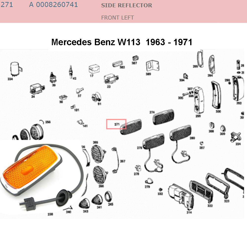 Lai Kam Wah Sdn. Bhd. Specialist in VW Aircooled Parts - 0008260741 - Side Reflector - Left