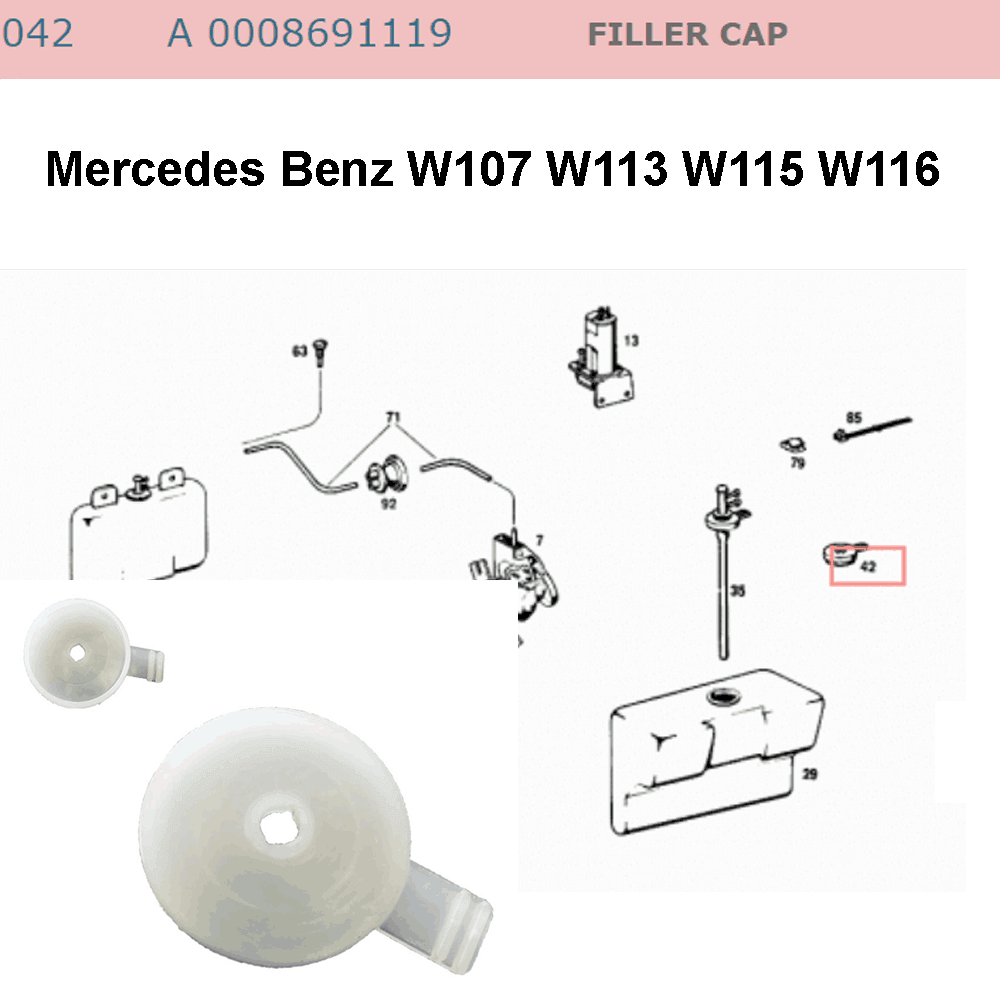 Lai Kam Wah Sdn. Bhd. Specialist in VW Aircooled Parts - 0008691119 - Filler Cap