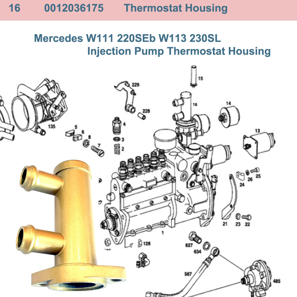Lai Kam Wah Sdn. Bhd. Specialist in VW Aircooled Parts - 0012036175 - Thermostat Housing