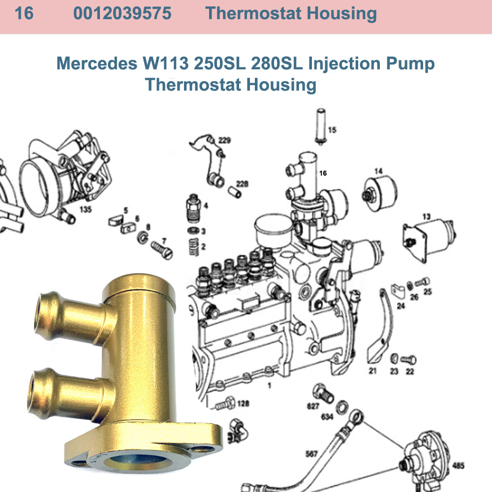 Lai Kam Wah Sdn. Bhd. Specialist in VW Aircooled Parts - 0012039575 - Thermostat Housing