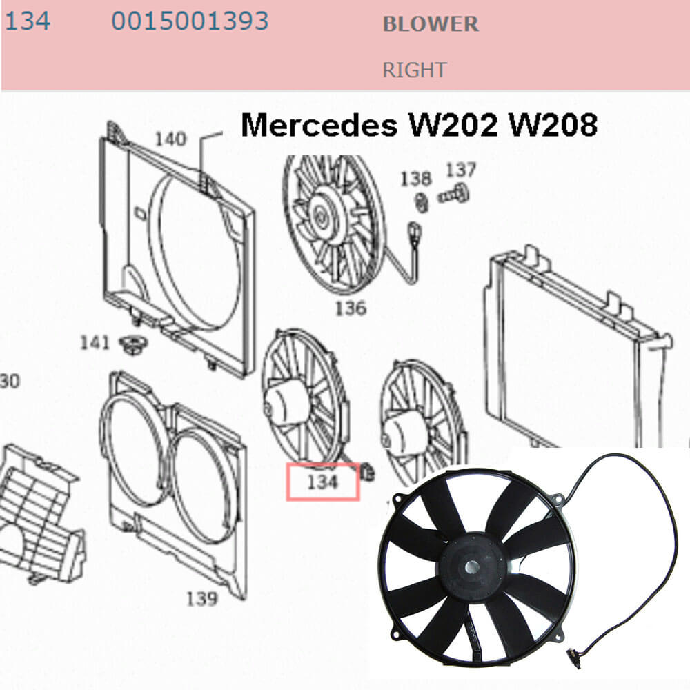 Lai Kam Wah Sdn. Bhd. Specialist in VW Aircooled Parts - 0015001393 - Blower - Right