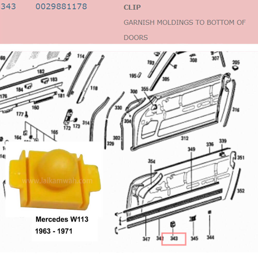 Lai Kam Wah Sdn. Bhd. Specialist in VW Aircooled Parts - 0029881178 - Clip