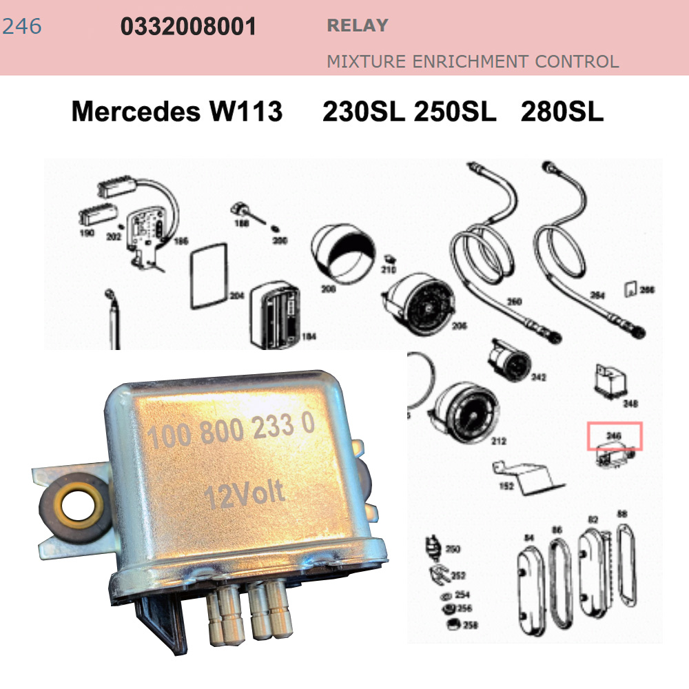 Lai Kam Wah Sdn. Bhd. Specialist in VW Aircooled Parts - 0332008001 - Relay