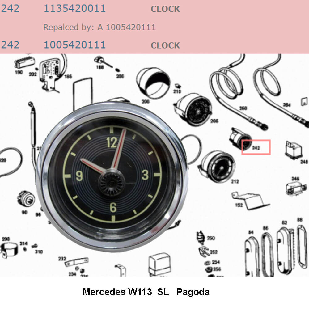 Lai Kam Wah Sdn. Bhd. Specialist in VW Aircooled Parts - 1005420111 - CLOCK