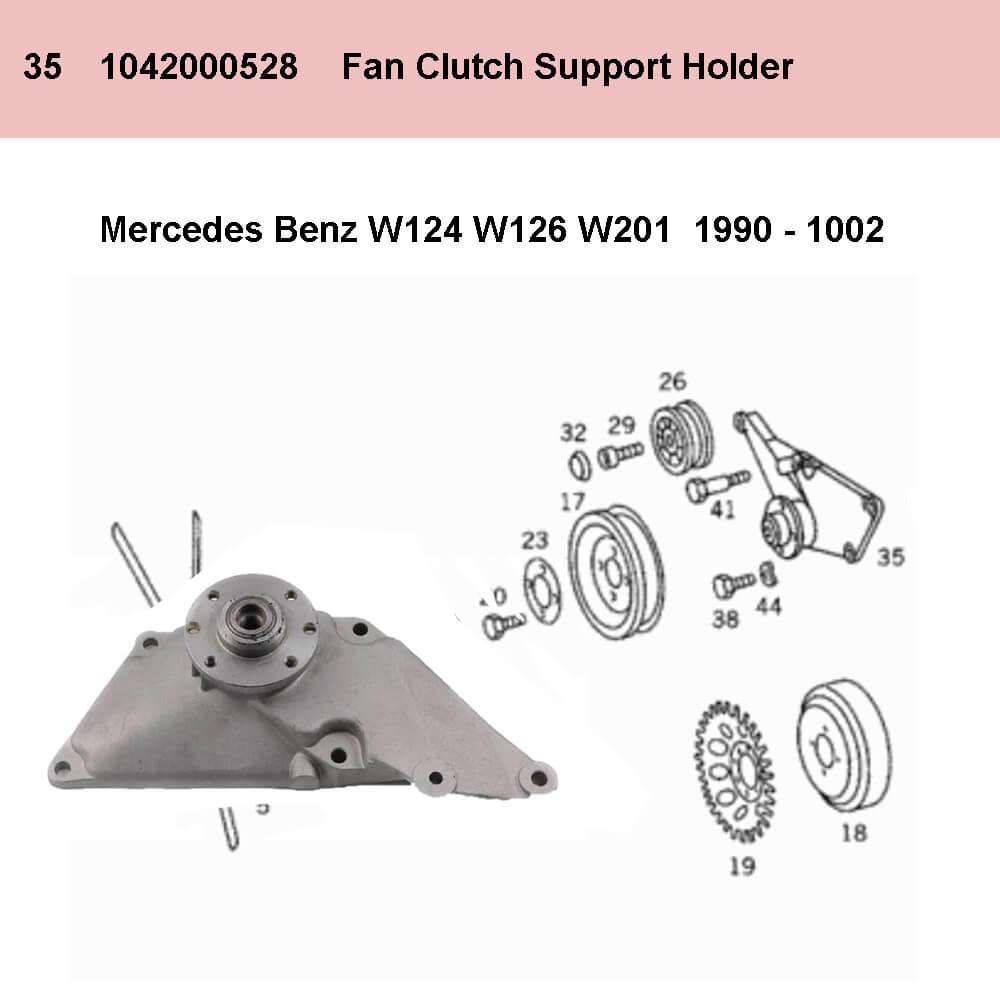Lai Kam Wah Sdn. Bhd. Specialist in VW Aircooled Parts - 1042000528 - Fan Bearing Bracket