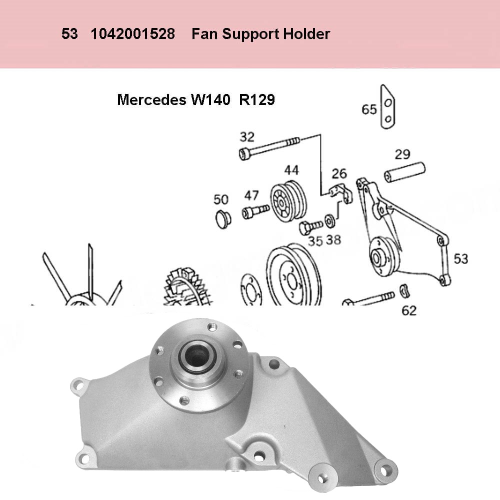 Lai Kam Wah Sdn. Bhd. Specialist in VW Aircooled Parts - 1042001528 - Fan Support Holder