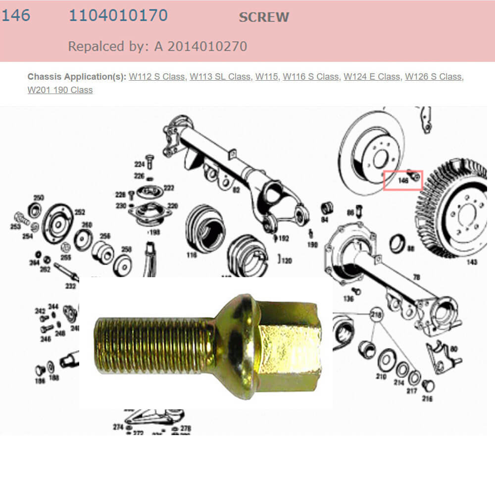 Lai Kam Wah Sdn. Bhd. Specialist in VW Aircooled Parts - 1104010170 - Screw