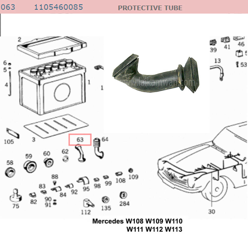 Lai Kam Wah Sdn. Bhd. Specialist in VW Aircooled Parts - 1105460085 - Protective Tube