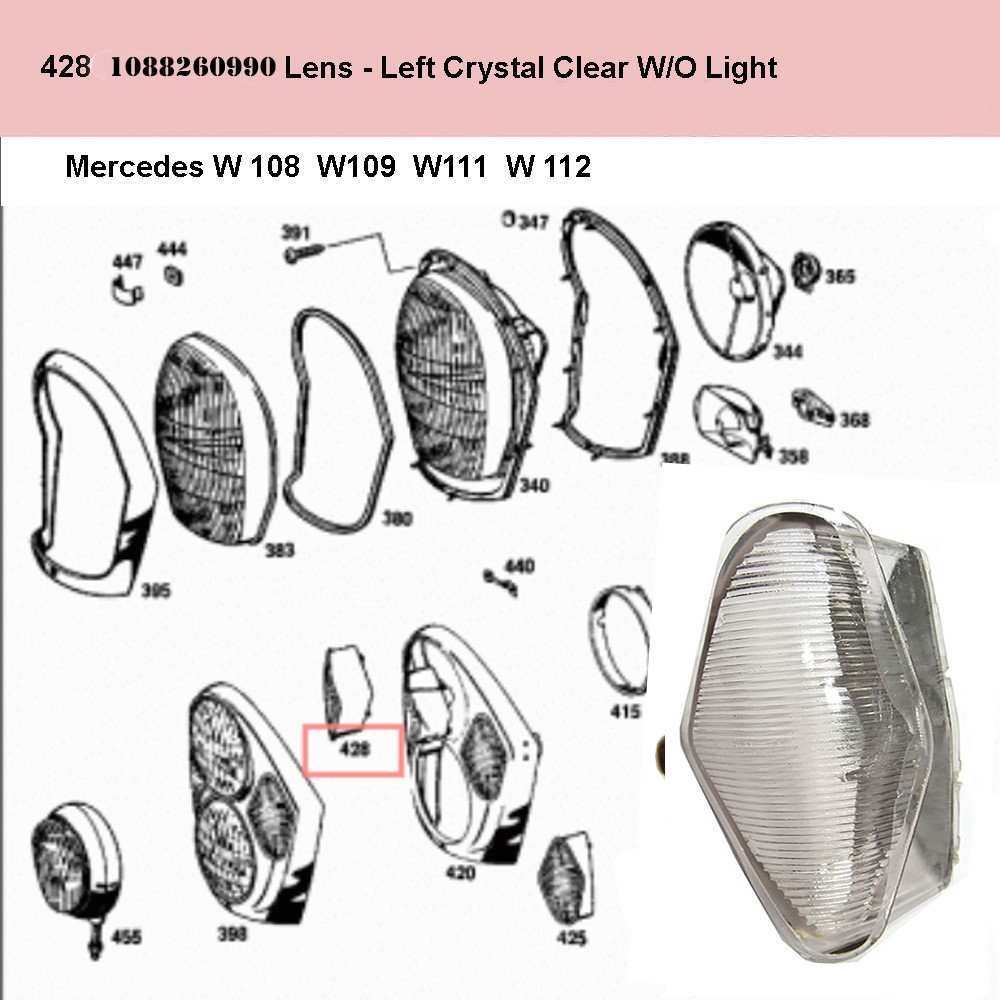 Lai Kam Wah Sdn. Bhd. Specialist in VW Aircooled Parts - 1088260990 - Lens - Left