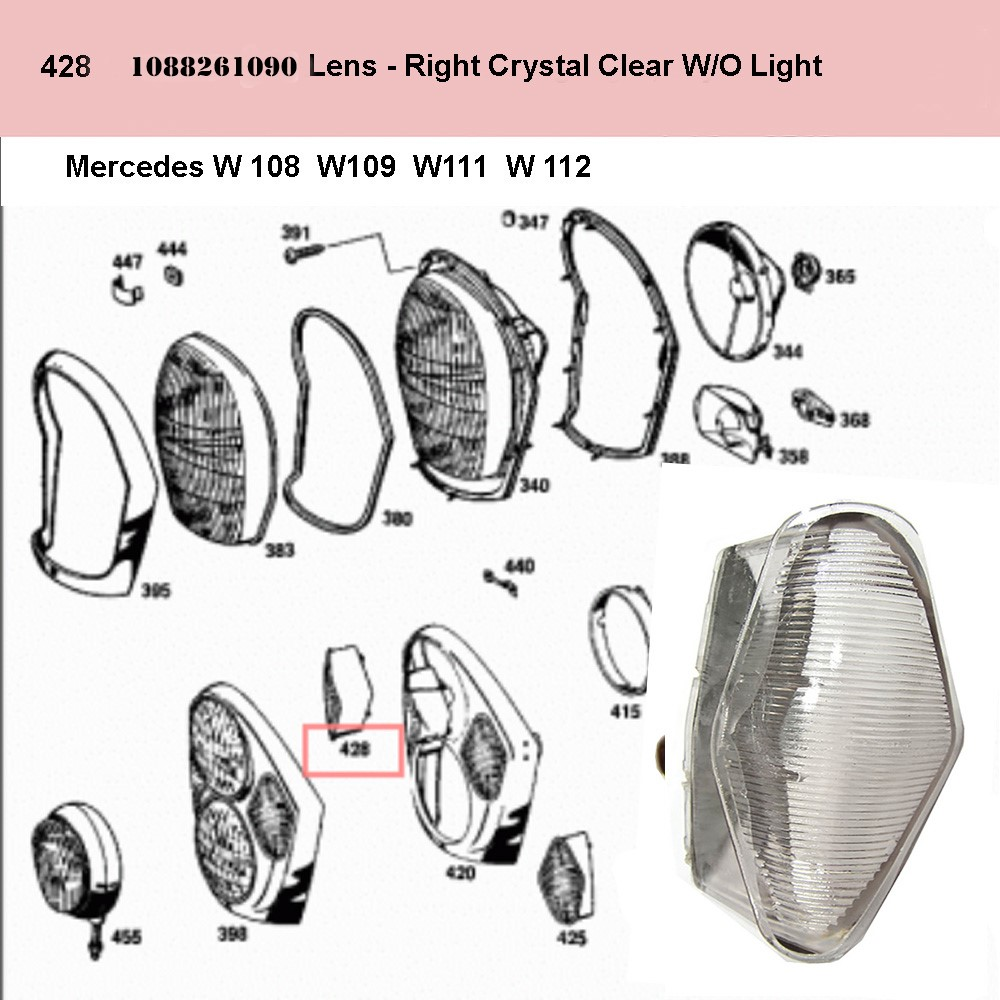 Lai Kam Wah Sdn. Bhd. Specialist in VW Aircooled Parts - 1088261090 - Lens - Right
