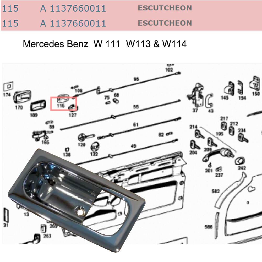 Lai Kam Wah Sdn. Bhd. Specialist in VW Aircooled Parts - 1137660011 - Escutcheon