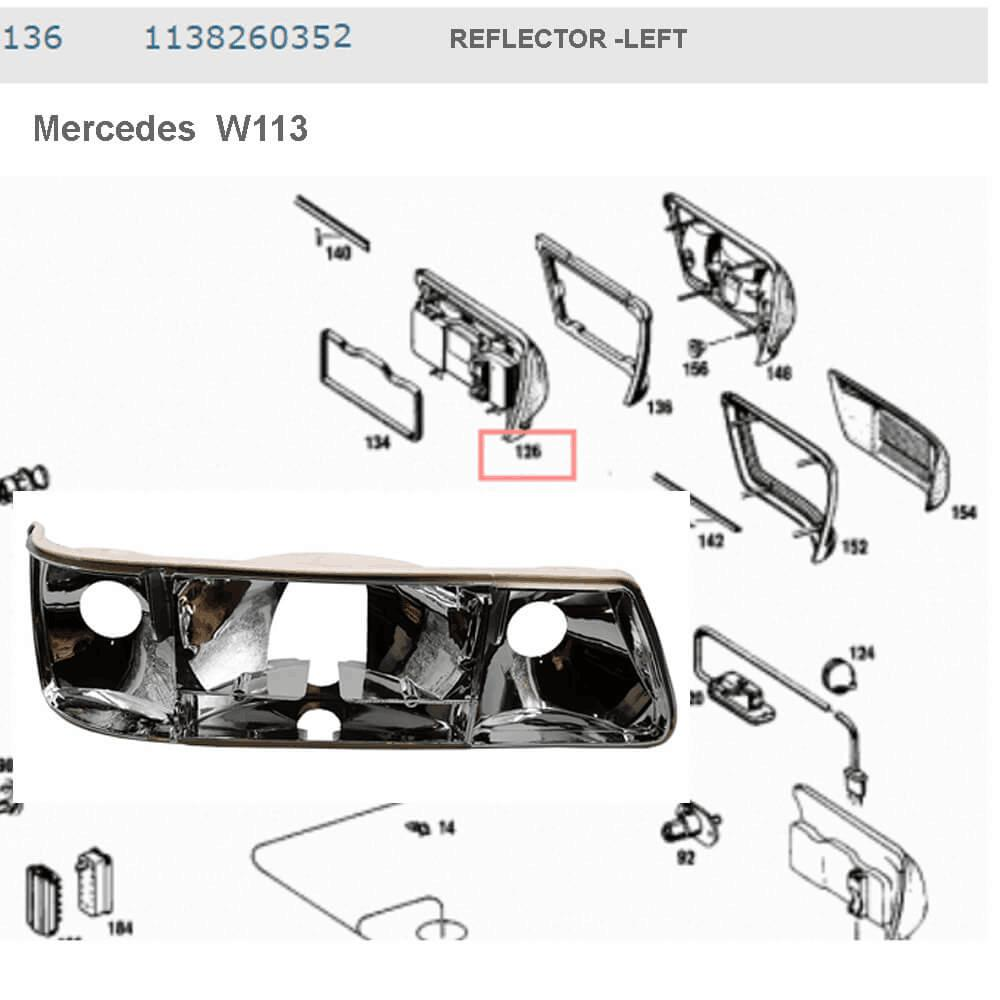 Lai Kam Wah Sdn. Bhd. Specialist in VW Aircooled Parts - 1138260352 - Reflector - Left