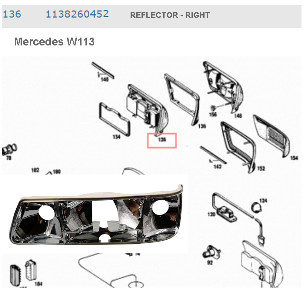 Lai Kam Wah Sdn. Bhd. Specialist in VW Aircooled Parts - 1138260452 - Reflector - Right