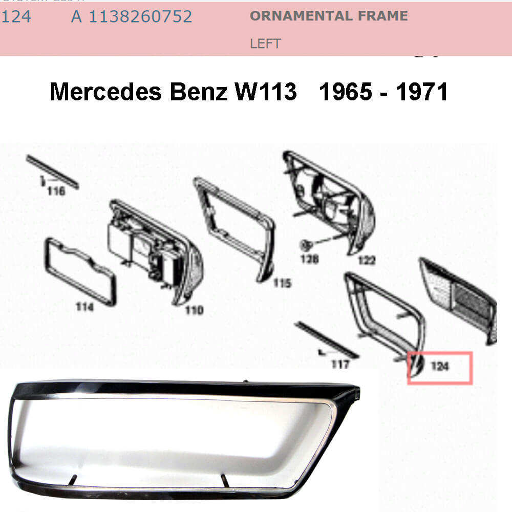 Lai Kam Wah Sdn. Bhd. Specialist in VW Aircooled Parts - 1138260752 - Ornamental Frame