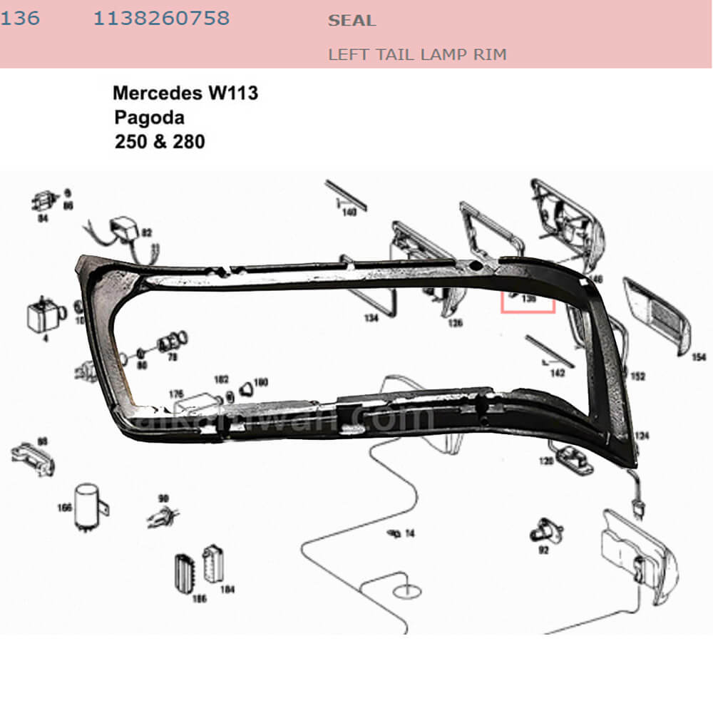 Lai Kam Wah Sdn. Bhd. Specialist in VW Aircooled Parts - 1138260758 - Seal