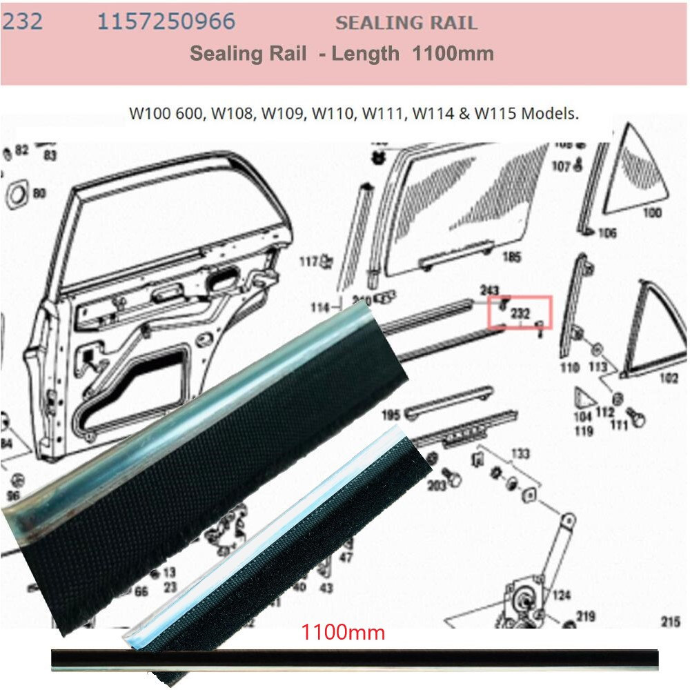 Lai Kam Wah Sdn. Bhd. Specialist in VW Aircooled Parts - 1157250966 - Sealing Rail