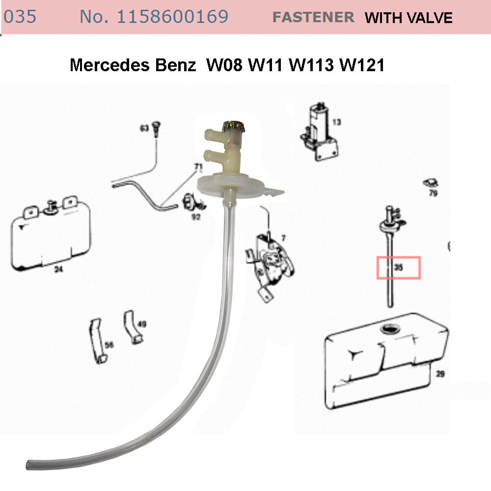 Lai Kam Wah Sdn. Bhd. Specialist in VW Aircooled Parts - 1158600169 - Fastener With Valve