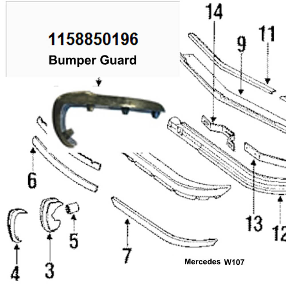 Lai Kam Wah Sdn. Bhd. Specialist in VW Aircooled Parts - 1158850196 - Bumper Guard