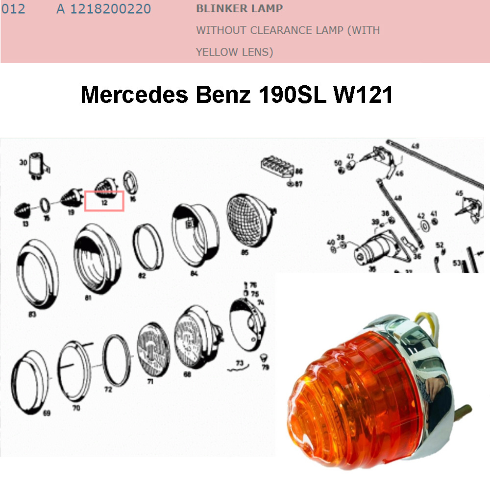 Lai Kam Wah Sdn. Bhd. Specialist in VW Aircooled Parts - 1218200220 - Blinker Lamp