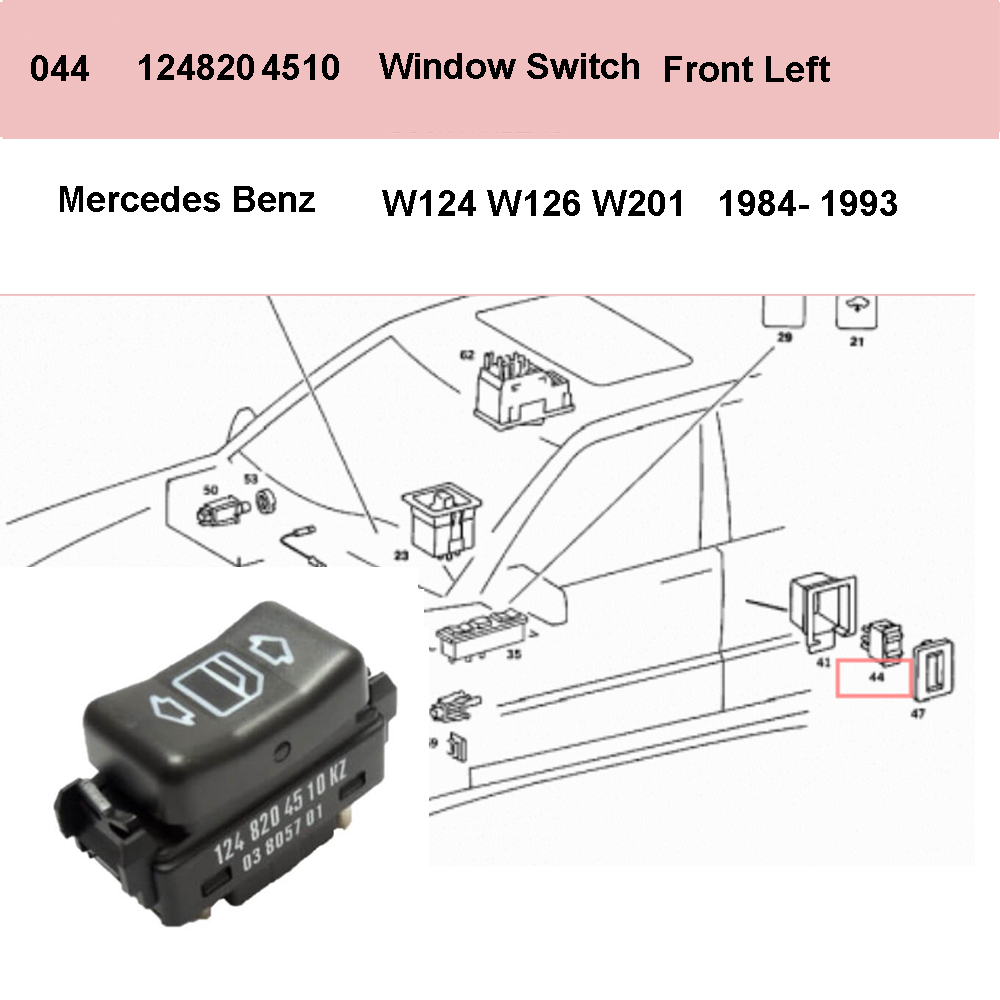 Lai Kam Wah Sdn. Bhd. Specialist in VW Aircooled Parts - 1248204510 - Door Window Switch