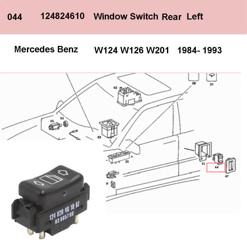 Lai Kam Wah Sdn. Bhd. Specialist in VW Aircooled Parts - 1248204610 - Door Window Switch