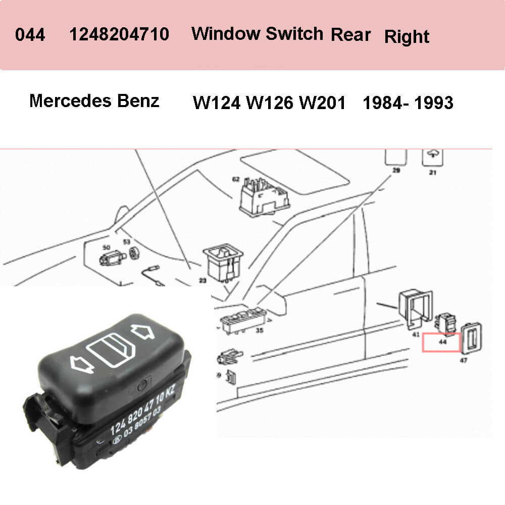 Lai Kam Wah Sdn. Bhd. Specialist in VW Aircooled Parts - 1248204710 - Door Window Switch - Right