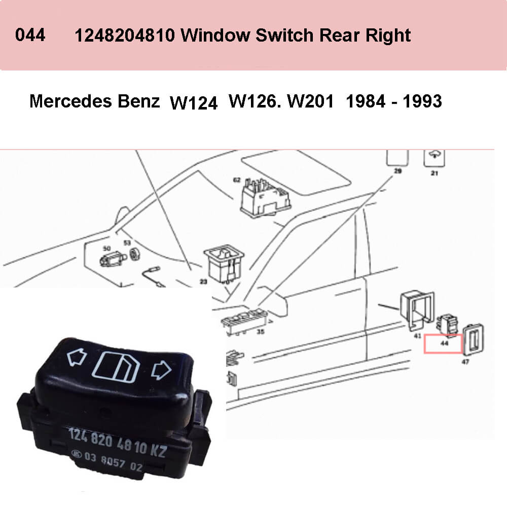 Lai Kam Wah Sdn. Bhd. Specialist in VW Aircooled Parts - 1248204810 - Door Window Switch - Left