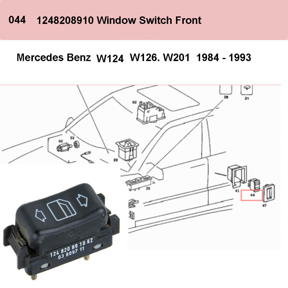 Lai Kam Wah Sdn. Bhd. Specialist in VW Aircooled Parts - 1248208910 - Door Window Switch