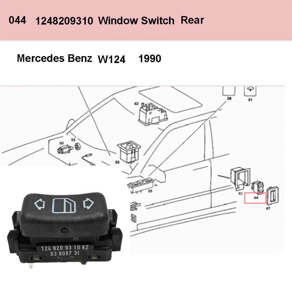Lai Kam Wah Sdn. Bhd. Specialist in VW Aircooled Parts - 1248209310 - Door Window Switch