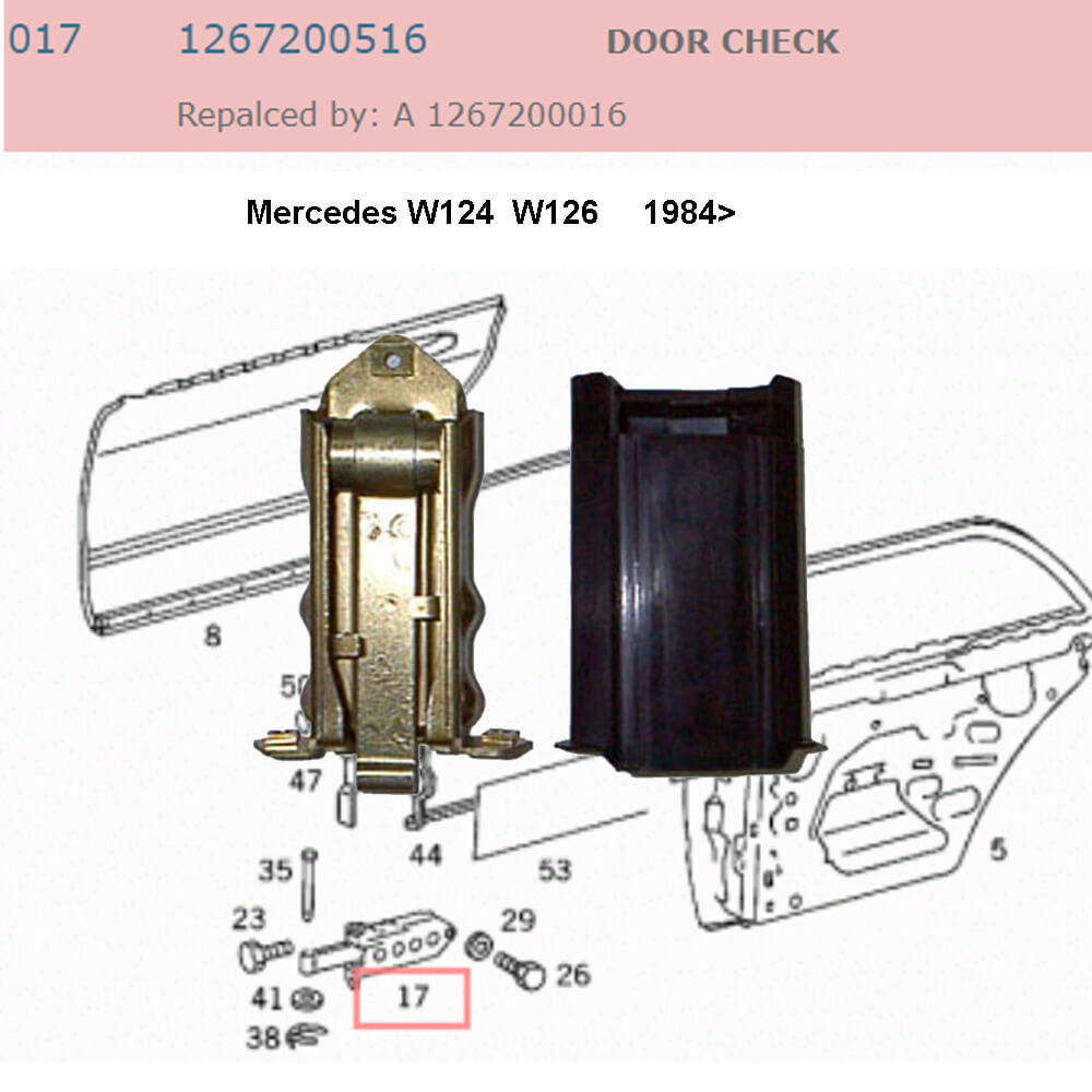 Lai Kam Wah Sdn. Bhd. Specialist in VW Aircooled Parts - 1267200516 - Door Check