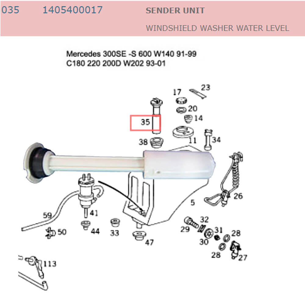 Lai Kam Wah Sdn. Bhd. Specialist in VW Aircooled Parts - 1405400017 - Sender Unit