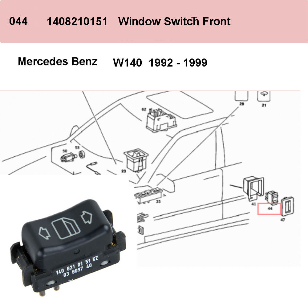 Lai Kam Wah Sdn. Bhd. Specialist in VW Aircooled Parts - 1408210151 - Door Window Switch