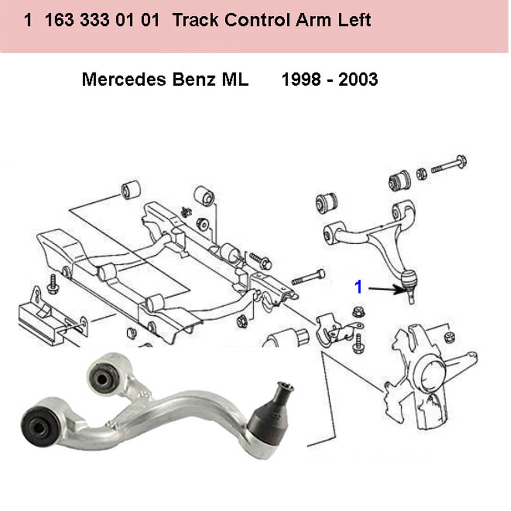 Lai Kam Wah Sdn. Bhd. Specialist in VW Aircooled Parts - 1633330101 - Control Arm - Right