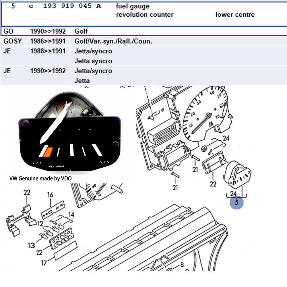 A540919391 - Fuel Gauge Revolution Counter