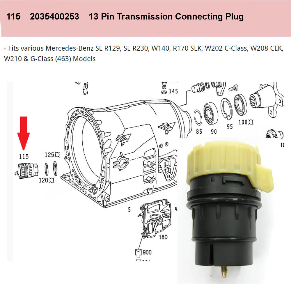Lai Kam Wah Sdn. Bhd. Specialist in VW Aircooled Parts - 20035400253 - Transmission Connecting Plug