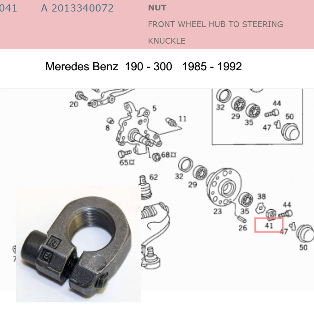 Lai Kam Wah Sdn. Bhd. Specialist in VW Aircooled Parts - 2013340072 - Nut