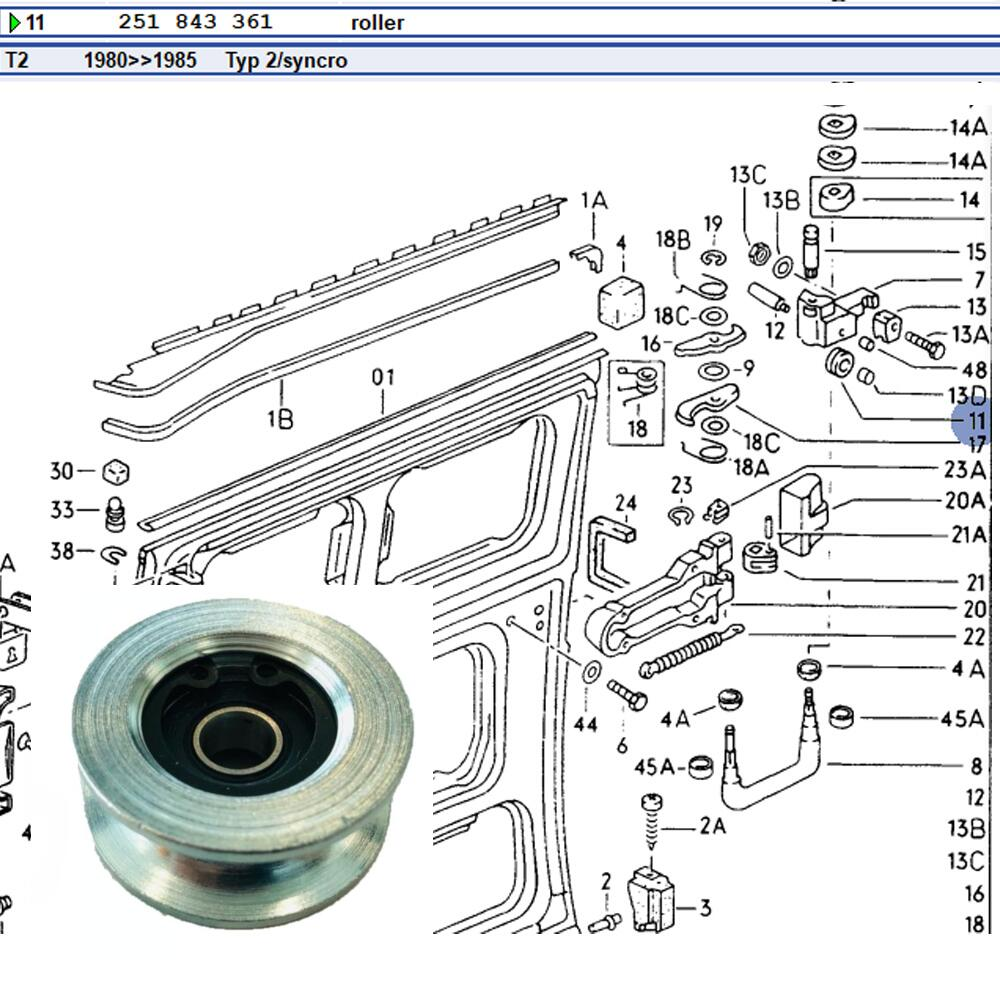 Lai Kam Wah Sdn. Bhd. Specialist in VW Aircooled Parts - 251843361 - Sliding Door Roller with Bearing