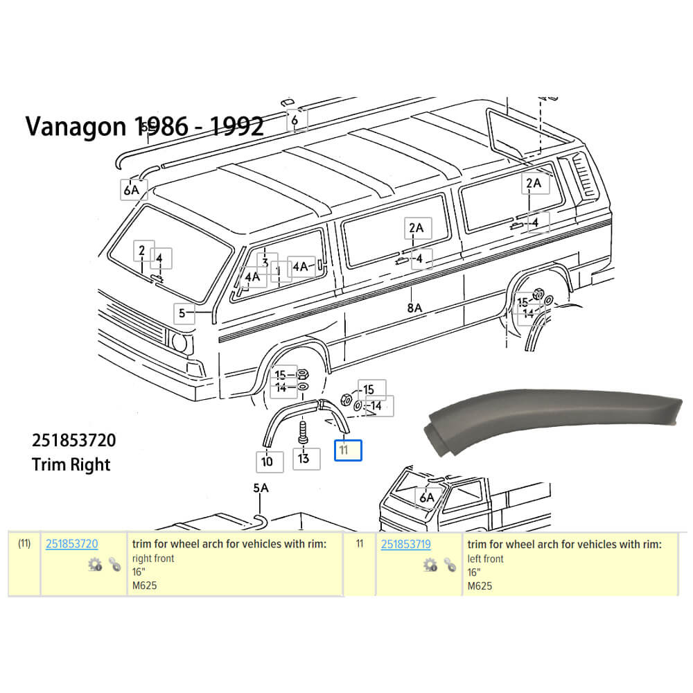 Lai Kam Wah Sdn. Bhd. Specialist in VW Aircooled Parts - 251853720 - Wheel Arch