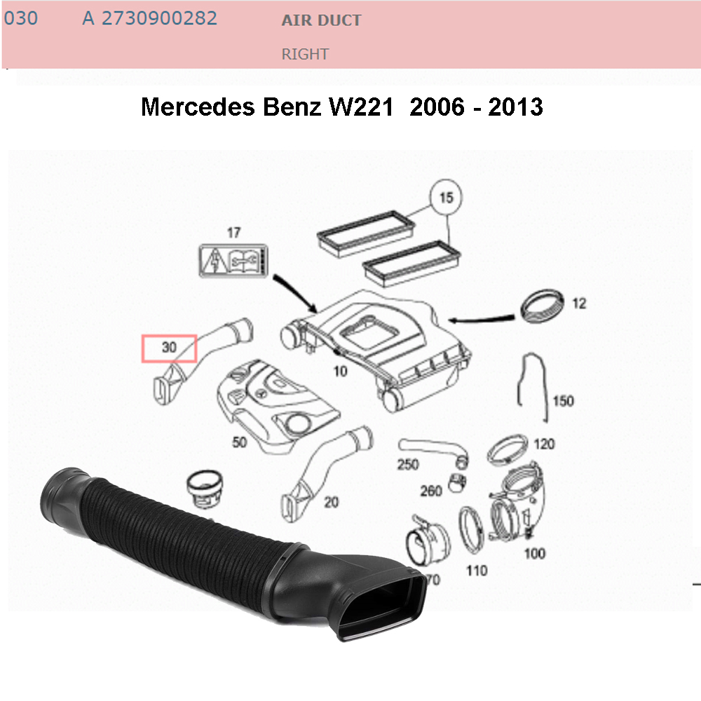 Lai Kam Wah Sdn. Bhd. Specialist in VW Aircooled Parts - 2730900282 - Air Intake Hose