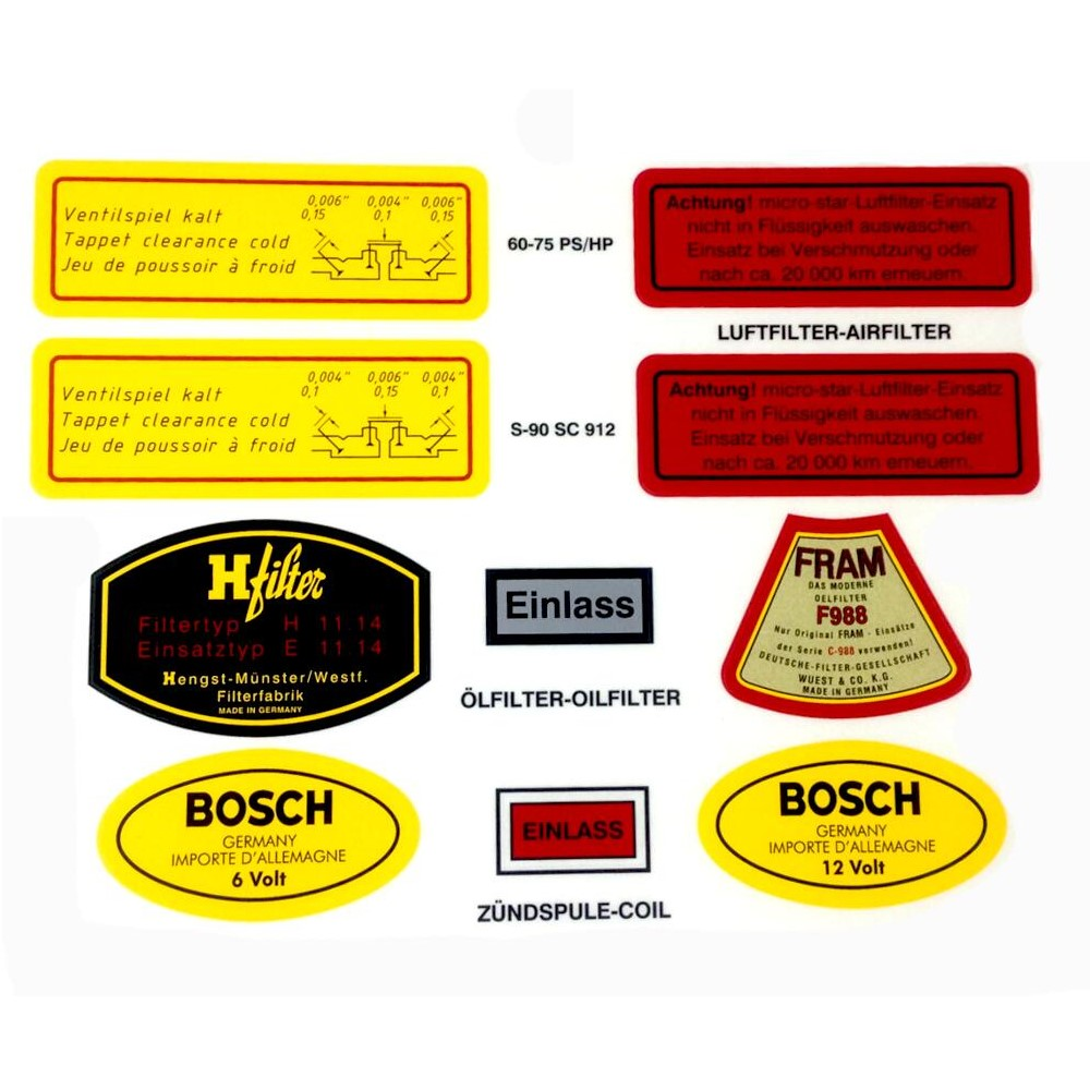 Lai Kam Wah Sdn. Bhd. Specialist in VW Aircooled Parts - 64470100101 - 356 Decals Sticker Set
