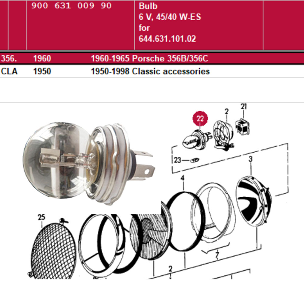 Lai Kam Wah Sdn. Bhd. Specialist in VW Aircooled Parts - 90063100990 - Bulb 6V