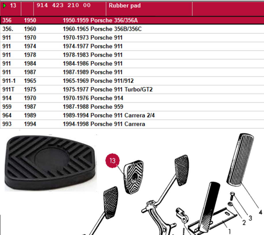 Lai Kam Wah Sdn. Bhd. Specialist in VW Aircooled Parts - 91442321000 - Rubber Pad