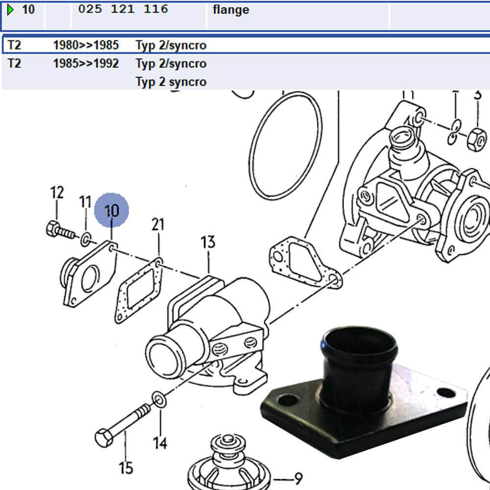 Lai Kam Wah Sdn. Bhd. Specialist in VW Aircooled Parts - 025121116 - Flange
