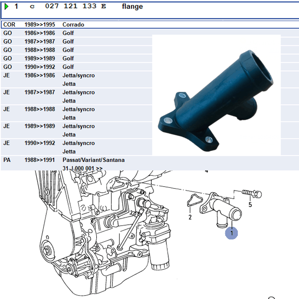 Lai Kam Wah Sdn. Bhd. Specialist in VW Aircooled Parts - 027121133E - Flange